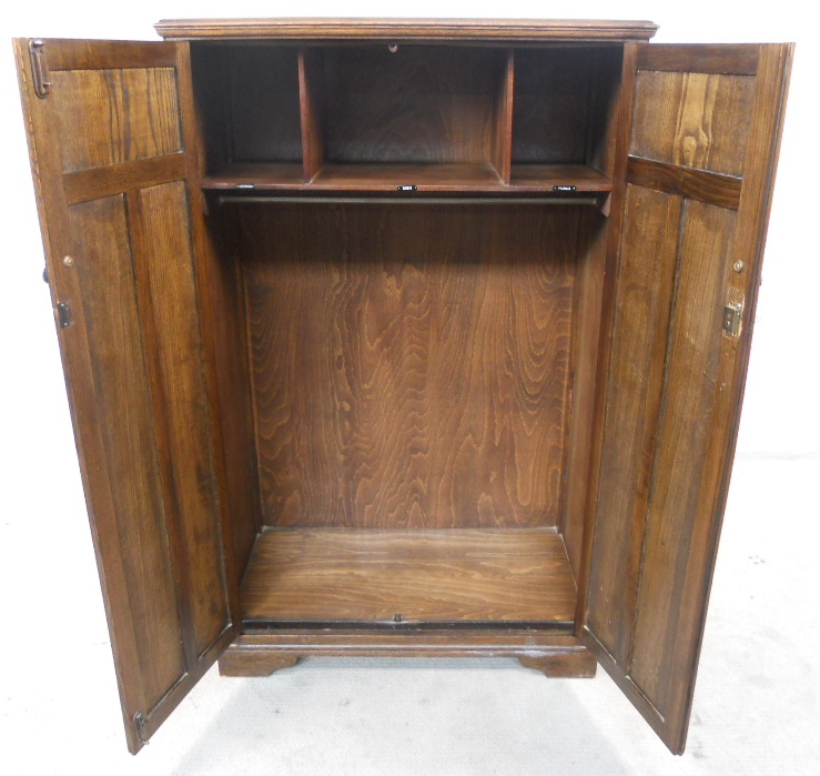 carved oak linenfold two door small wardrobe sold - Small Wardrobe